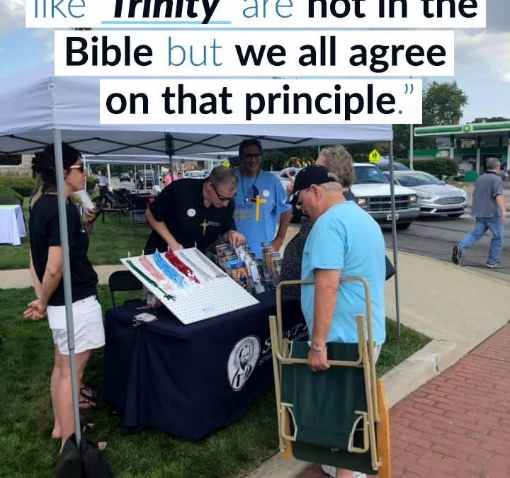 """""""Evangelizing at 'Catholic Corner' """""""